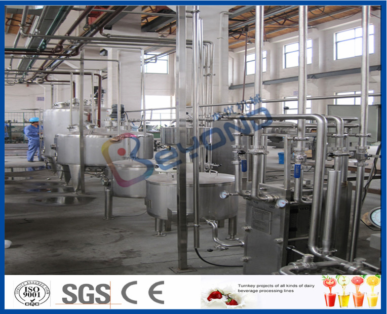UHT Sterilizer Dairy Processing Plant , Yogurt Processing Machine With CIP System