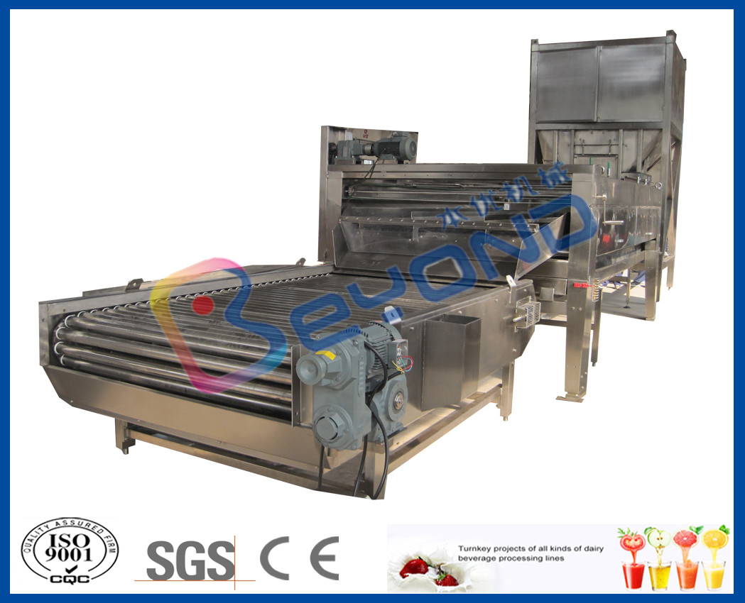 Vegetable / Fruit Washing Machine Rolling Drum With Brush Washer CE / ISO9001