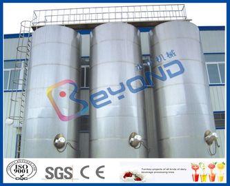 대형 야외 스테인레스 스틸 저장 탱크 / SUS304 SUS316 스테인레스 스틸 유제품 장비
