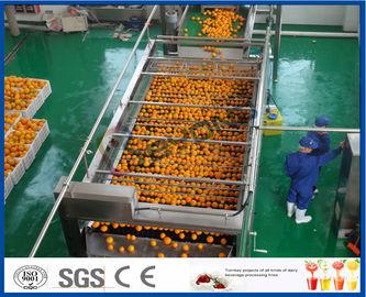 주스 만드는 공장을 위한 10TPH 자동 오렌지 주스 추출 오렌지 가공 라인